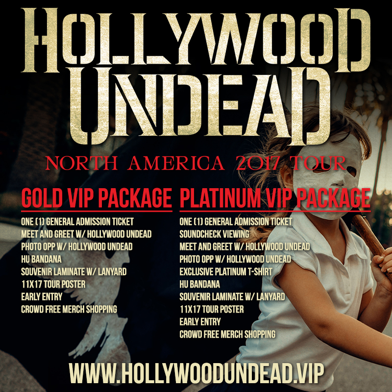 Hollywood Undead North America Tour 2017 - VIP Package Info